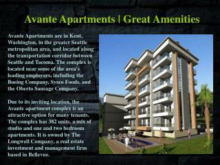 Avante_Apartments Great Amenities