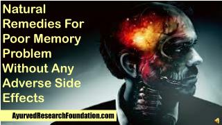 Natural Remedies For Poor Memory Problem Without Any Adverse