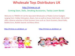 Toy wholesale distributors uk
