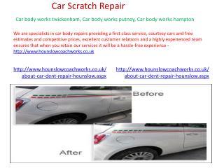 Car auto body repairs