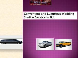 Convenient and Luxurious Wedding Shuttle Service in NJ