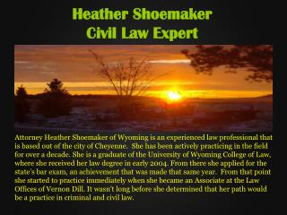 Heather Shoemaker Wyoming _Civil law Expert