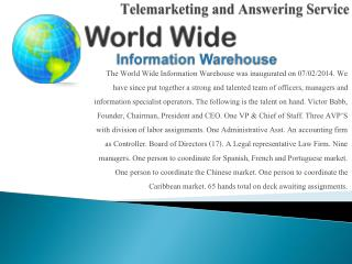Telemarketing and Answering Service