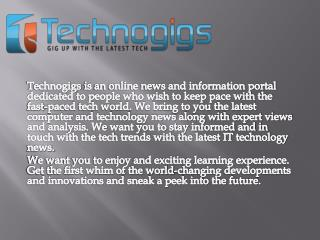 Technogigs.com - Best Platform of new technology updates