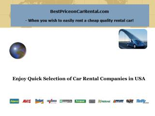 Enjoy Quick Selection of Car Rental Companies in USA