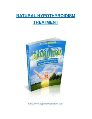 Natural Hypothyroidism Treatment