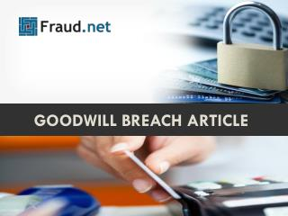 Goodwill breach article
