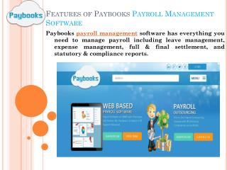 Payroll Management Software at Paybooks