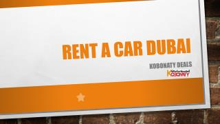 Best Deals for Reant a Car Dubai