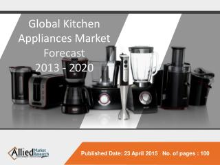 Global Kitchen Appliances Market - Forecast 2013 - 2020