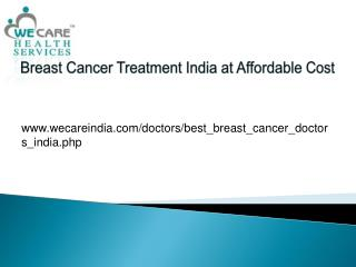 Breast Cancer Treatment India at Affordable Cost