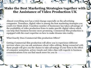 Video Production Companies UK