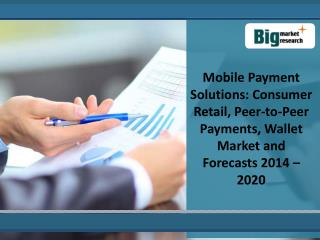 The Analysis Of Mobile Payment Solutions Market 2020