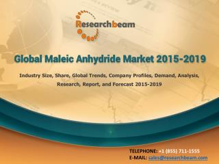 Global Maleic Anhydride Market 2015-2019