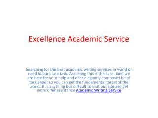 Excellence Academic Service