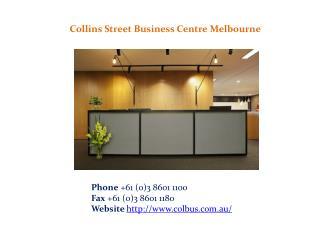 Collins Street Business Centre Melbourne