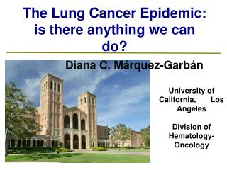The Lung Cancer Epidemic: is there anything we can do
