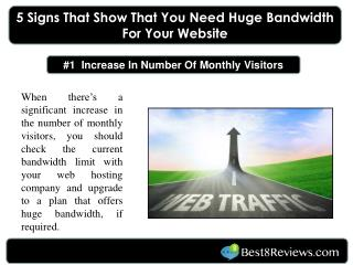 5 Signs That Show That You Need Huge Bandwidth For Your Webs