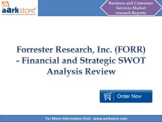 Aarkstore - Forrester Research, Inc. (FORR)