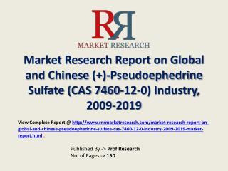 Pseudoephedrine Sulfate  Industry 2019 Forecasts for Global