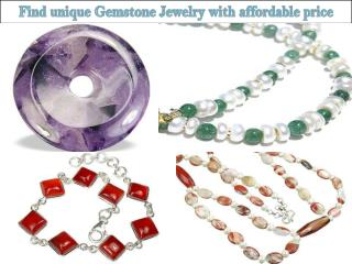Find unique Gemstone Jewelry with affordable price