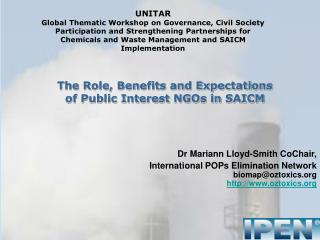 UNITAR   Global Thematic Workshop on Governance, Civil Society Participation and Strengthening Partnerships for Chemical