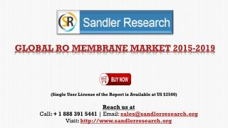 Global RO Membrane Market to Grow at 7.3% CAGR by 2019