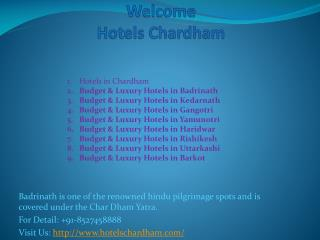 Budget & Luxury Hotels in Badrinath