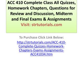 ACC 557 WK 2 Chapter 2,3 Quiz - All Possible Questions
