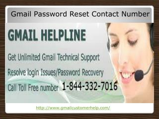 Gmail Password Recovery 1-844-332-7016 Customer Service Numb