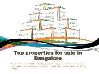 Top properties for sale in Bangalore