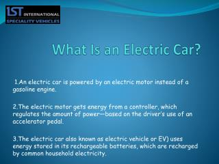 Electric Cars and Their Types