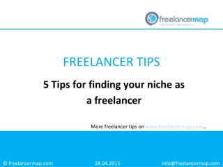 5 Tips for finding a niche as a freelancer