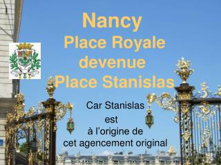 Nancy place Stan