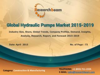 Global Hydraulic Pumps Market 2015-2019