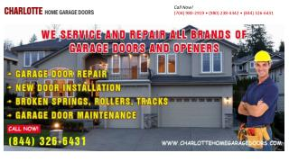 Charlotte Home Garage Doors