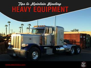 Heavy Vehicle Maintenance Tips