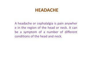 Headache - Finish Problems Advice