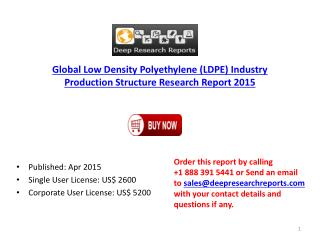 2015 Global Low Density Polyethylene Industry Production Typ