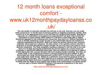 12 month loans basic resources hardly going