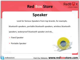 Red Box Store - Speaker