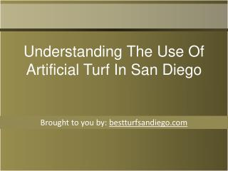 Understanding The Use Of Artificial Turf In San Diego