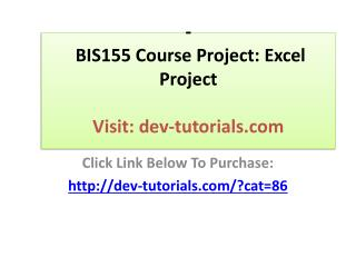 CIS115 All Exercises Devry
