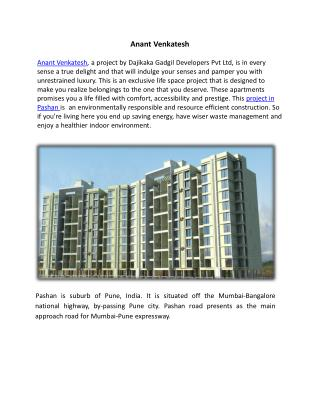 Dajikaka  Gadgil Developers Launched Anant Venkatesh Flats i