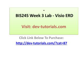 BIS245 Week 3 Lab - Visio ERD
