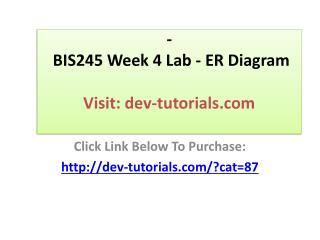BIS245 Week 4 Lab - ER Diagram