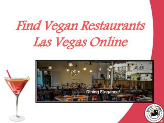 Find Vegan Restaurants Las Vegas online