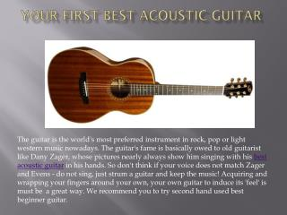 Your First Best Acoustic Guitar