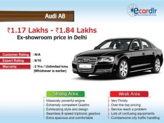 Audi A8 Prices, Mileage, Reviews and Images at Ecardlr