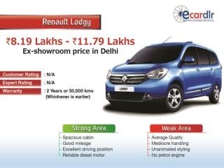 Renault Lodgy available in 7 variants